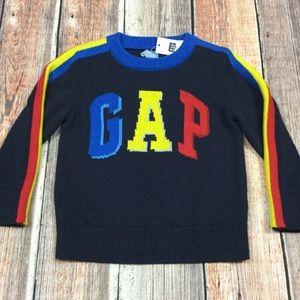 Gap Boys 12-18 Month Navy Blue Logo Sweater